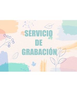 Servicio de Grabación