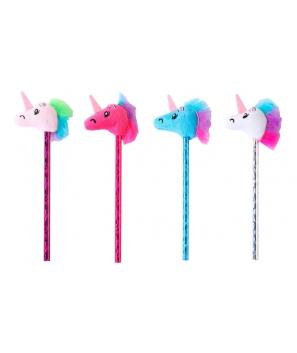 Lote 12 Lapiceros Unicornio colores - Detalles Cumples Comuniones