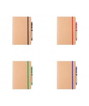 Set Libreta + Bolígrafo Nature Cartón Reciclado