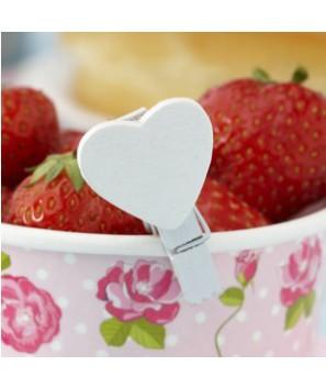 Pinzas con forma de corazón (10 uds.)