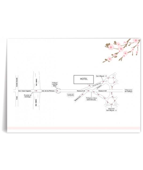 Mapa de boda personalizado