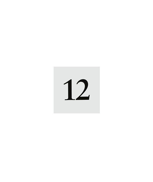 Números de mesa estilo tienda (12 unidades)