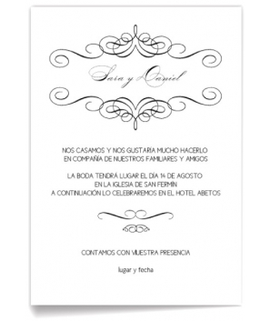 Invitación de boda Formal