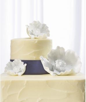 Flores de porcelana para pastel de boda