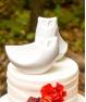 Búhos de porcelana para pastel de boda