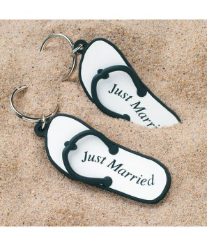 """Llaveros chancla """"Just married"""""""