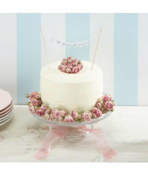 "Banderines para tarta ""Mr & Mrs"""