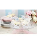 Toppers para cupcakes blancos (16 uds)