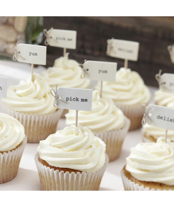 Toppers para cupcakes Vintage