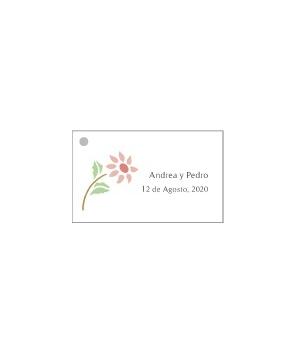 Tarjetas personalizadas Flor Roja