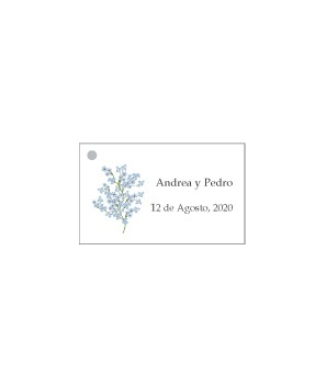 Tarjetas personalizadas Paniculata Azul