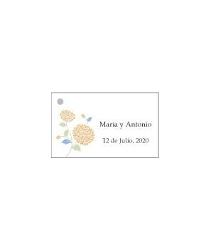 Tarjetas personalizadas Flor Naranja