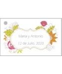Tarjetas personalizadas Marco Flores de Colores
