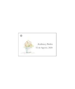 Tarjetas personalizadas Maceta de Flores