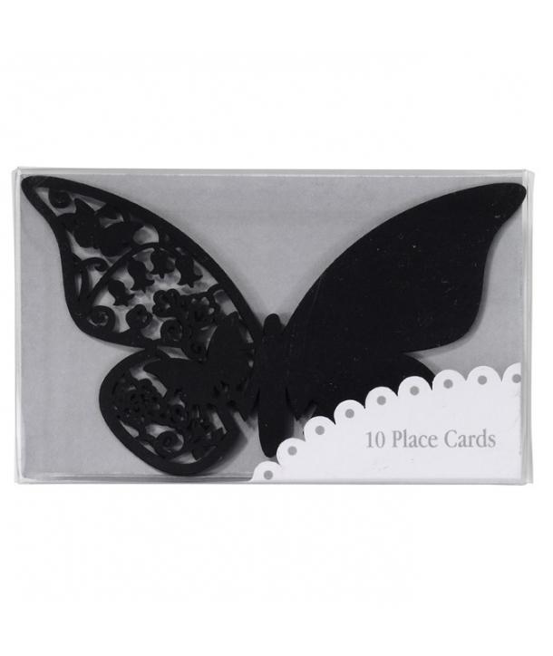 Marcasitios con forma de mariposa-Negra