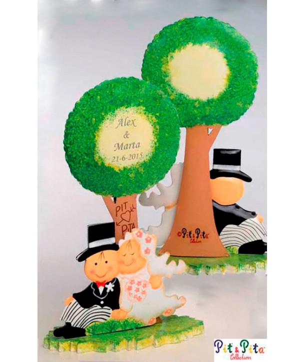 Muñecos para tarta Novios Árbol