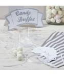 Kit para dulces y golosinas- Blanco y Plata