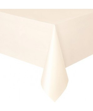 Mantel de papel color marfil (pack de 2 uds.)
