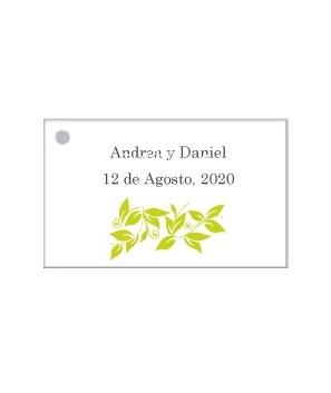 Tarjetas personalizadas Rama Verde