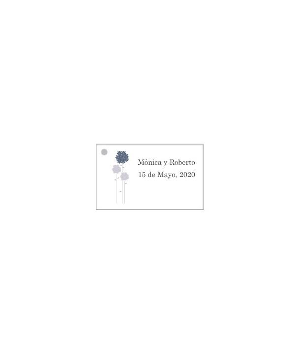 Tarjetas personalizadas Flores Azules
