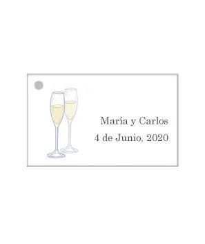 Tarjetas personalizadas Copas Champán