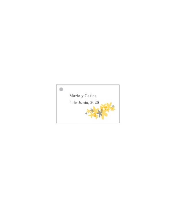 Tarjetas personalizadas Flores Amarillas