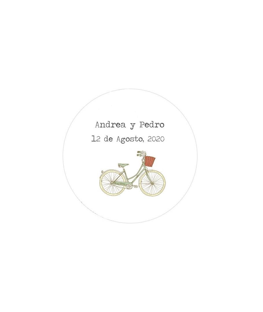Etiquetas Redondas Bicicleta Para Decorar Detalles De Boda