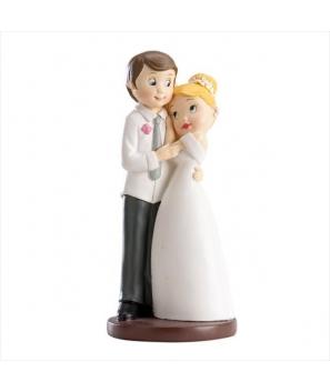 Figura para pastel Novios Abrazados