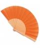 Abanico de madera Naranja