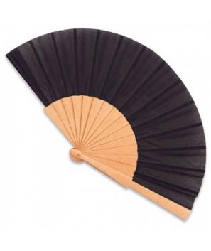 Abanico de madera Negro con cajita de cartón de regalo