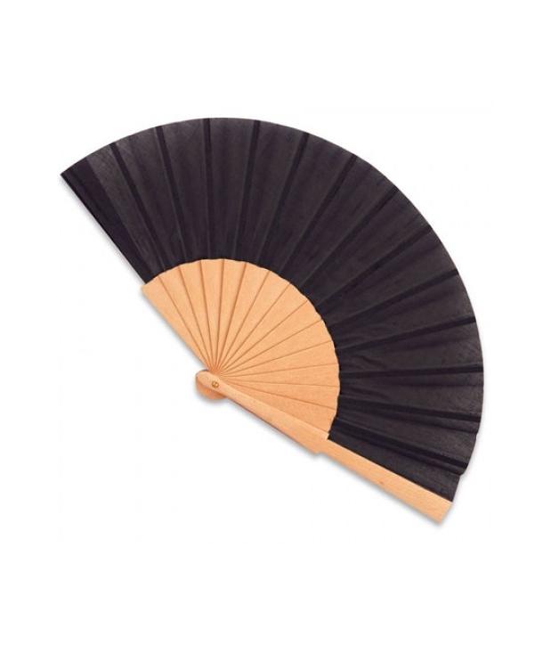 Abanico de madera Negro