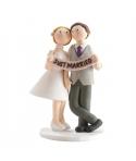 Pareja novios Just Married
