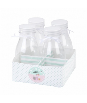 Mini Botellas de Leche (4 uds)