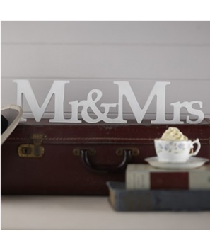 Letras de madera Mr & Mrs