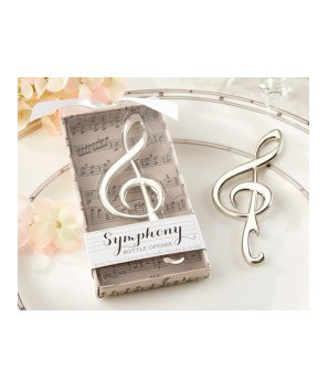 Nota musical abridor plateada