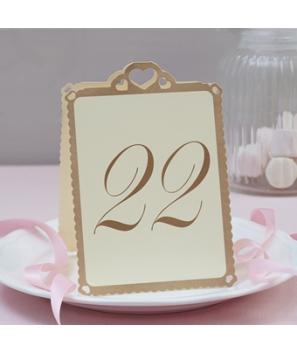 Números de mesa Corazón Marfil (13-24)