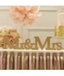 Letras de madera doradas Mr & Mrs