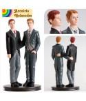 Pareja de boda Gay Abrazados
