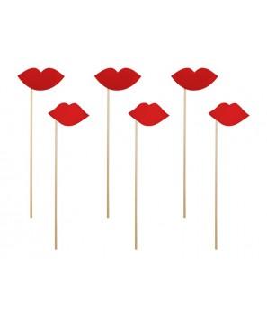 Pack labios rojos (6 uds)