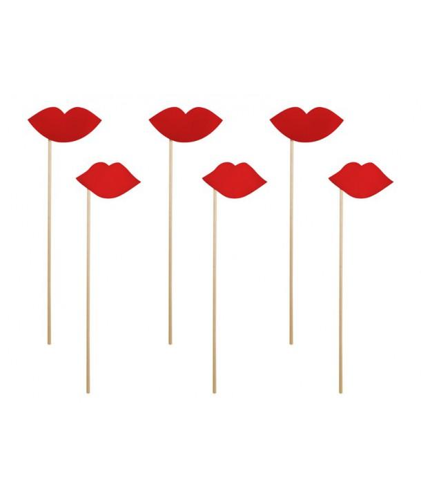 Pack labios rojos (6uds)