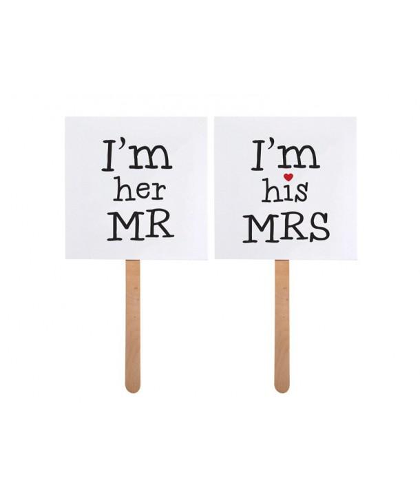 Accesorios Photocall Mr / Mrs