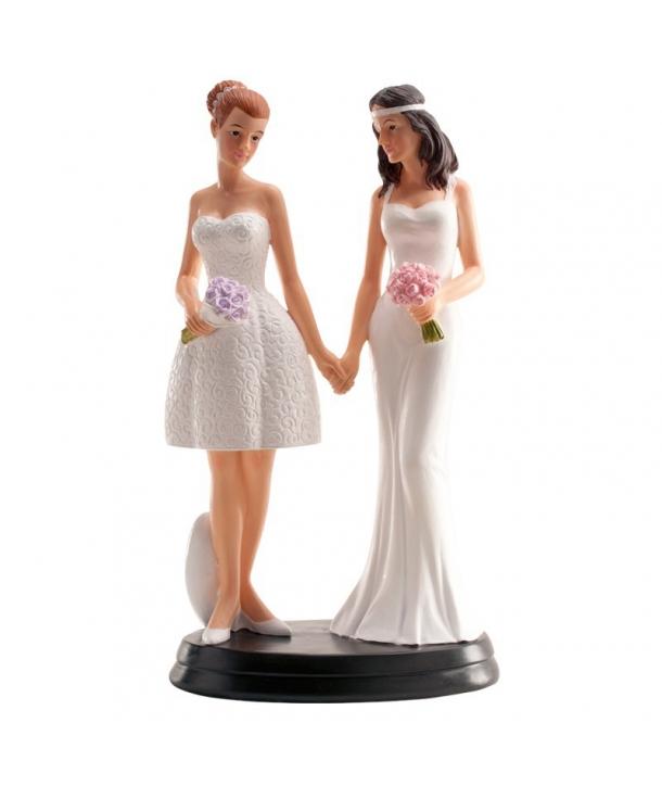 Pareja de boda lesbiana actual
