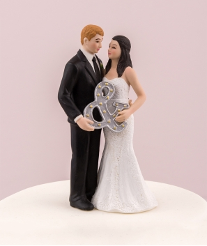 Figura de Novios Mr and Mrs