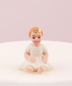 Bebé niña para tarta
