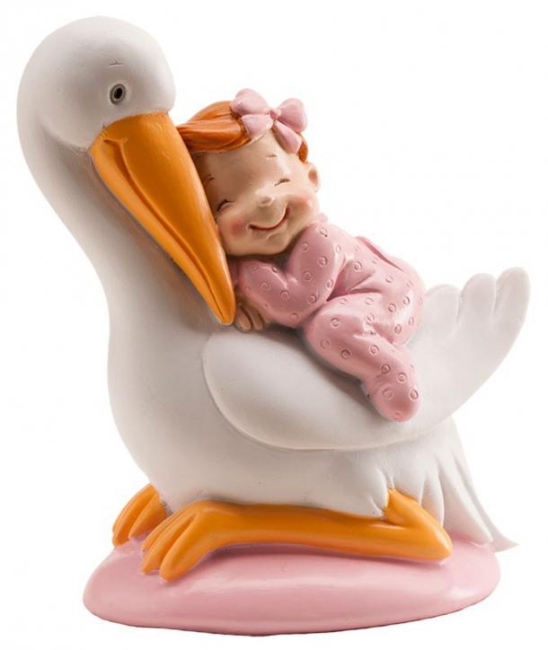 Cigüeña dormida bautizo niña