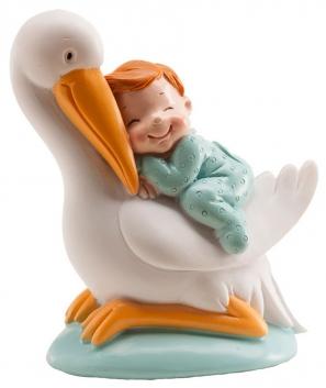 Cigüeña dormida bautizo niño