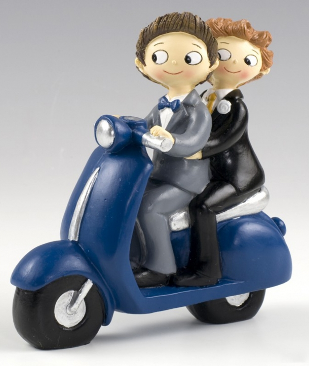 Figura pastel Boys Pop & Fun en moto