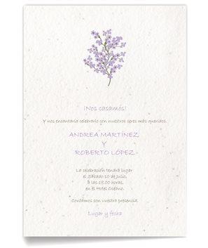 Invitación de boda Lila