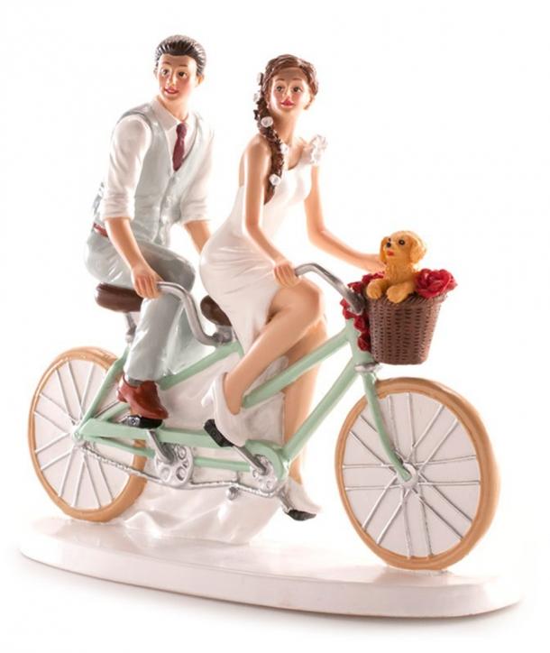 Pareja de boda en Bicicleta