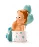 Figura de bautizo bebé regalo y globosazul